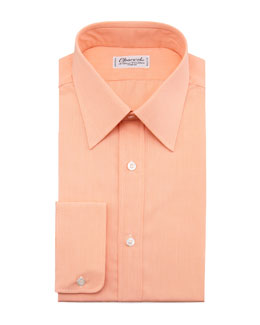 Charvet Solid Dress Shirt, Orange