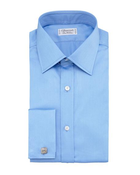 French-Cuff Dress Shirt, Blue