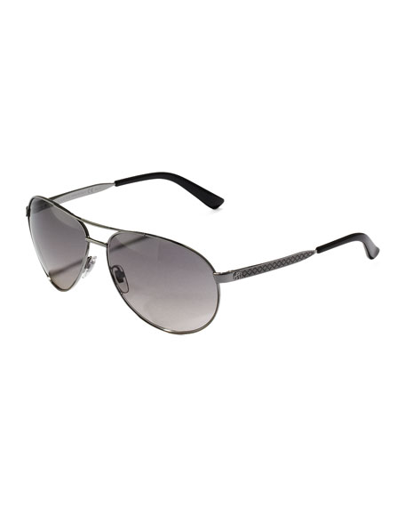Metal Aviator Sunglasses, Ruthenium