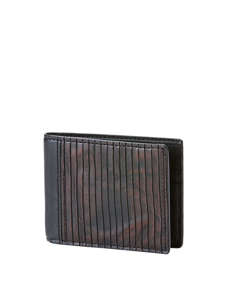 James Veg Cut Wallet, Brown
