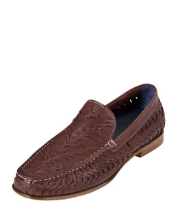 Cole Haan Air Tremont Woven Leather Loafer, Brown