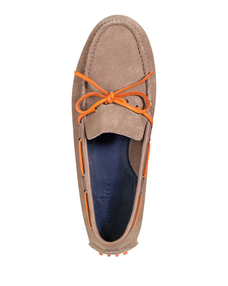 Air Grant Suede Tie Driver, Tan/Orange