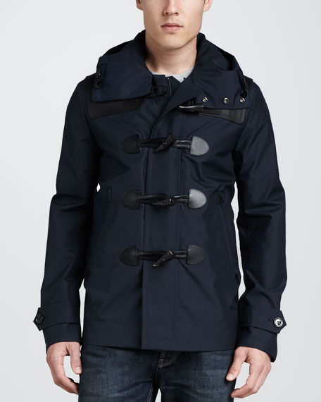 Burberry Brit Waterproof Duffle Coat, Navy