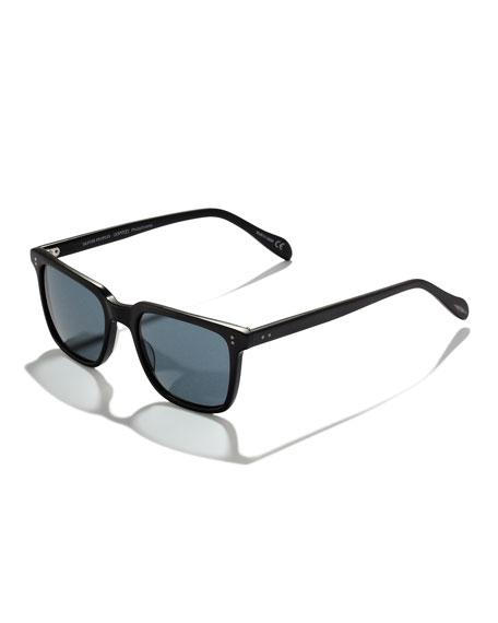 NDG Square Plastic Sunglasses, Noir