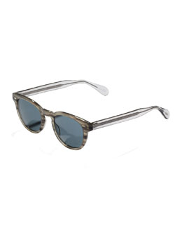 Oliver Peoples Sheldrake Photochromic Sunglasses, Gray Tortoise