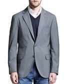 Brunello Cucinelli Deconstructed Travel Jacket, Gray