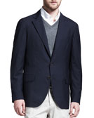 Brunello Cucinelli Deconstructed Travel Jacket, Navy