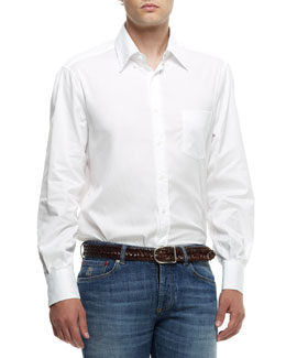 Brunello Cucinelli Button-Down Shirt, White