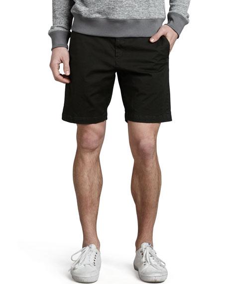 Perth Cotton Shorts, Dark Gray