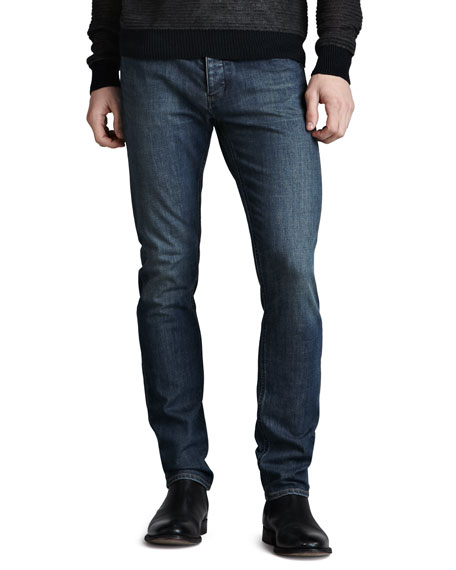 Raffi Slim Jeans, Washed Indigo