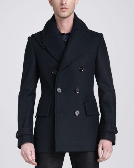 Brentwood Pea Coat, Navy