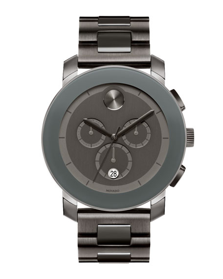 43.5mm Bold Chronograph Watch, Gray