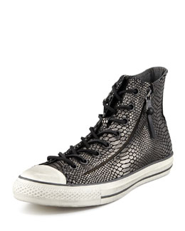 Converse by John Varvatos All-Star Double-Zip Hi-Top, Black Snake