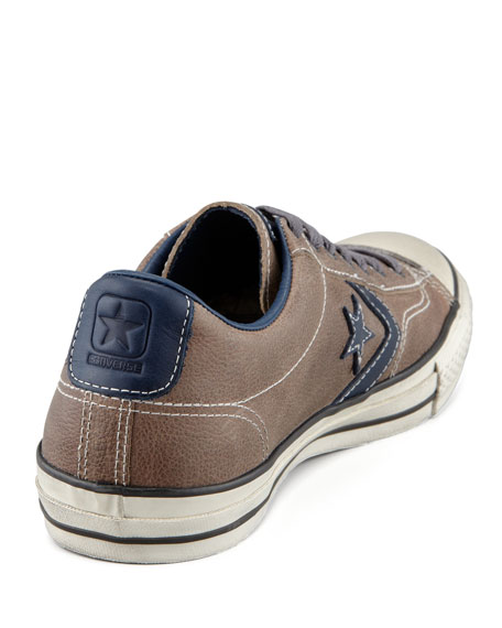 Leather Star Player EV Low-Top Sneaker, Brown/Blue