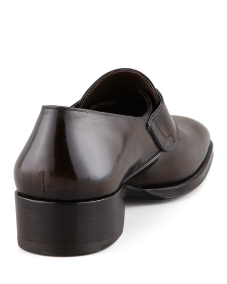 Gianni Monk-Strap Loafer, Brown