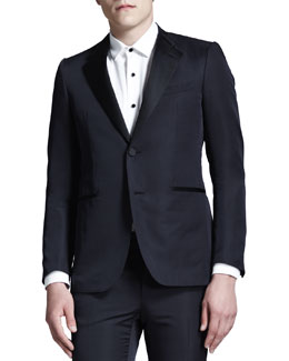 Lanvin Cut-Collar Smoking Jacket