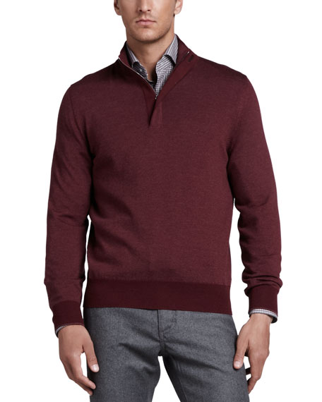 Merino Quarter-Zip Sweater