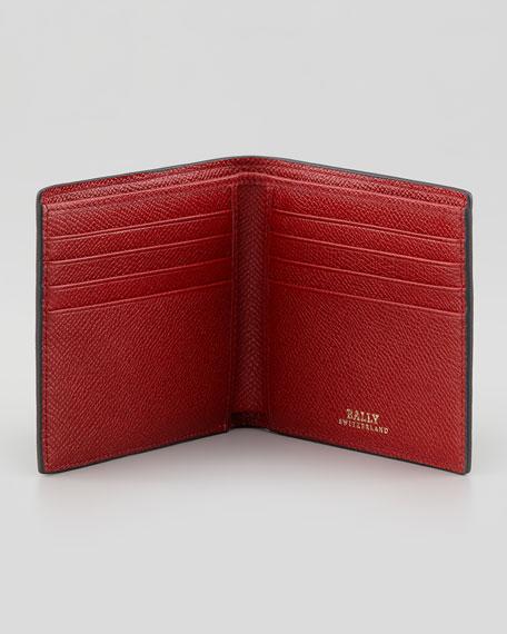 Bollen Logo-Embossed Leather Wallet, Black