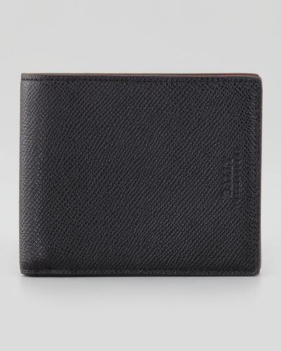 Bollen Logo-Embossed Leather Wallet, Black