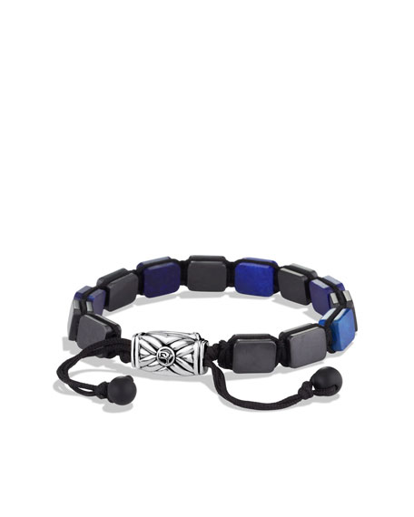 Spiritual Beads Five-Station Tile Bracelet with Lapis Lazuli