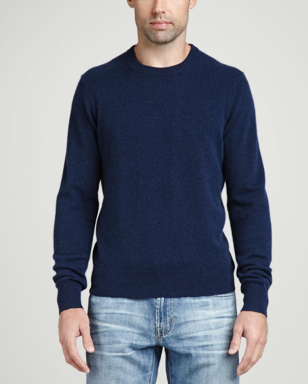 Cashmere Crewneck Elbow Patch Sweater 19e301e72