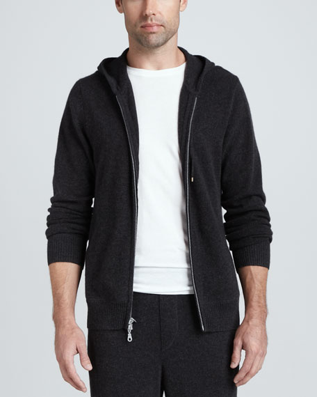 Cashmere Lounge Hoodie, Charcoal