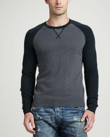 Raglan Crewneck Sweater, Green