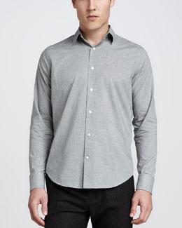 Heather Long-Sleeve Shirt, Gray