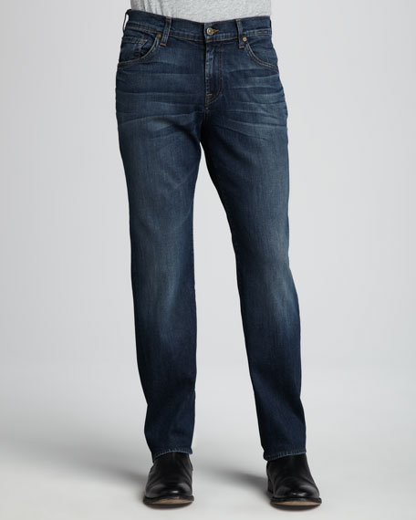 Luxe Performance: Austyn Half Moon Blue Jeans