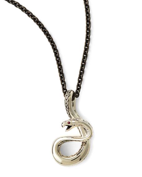 Men's Sterling Silver Cobra Necklace