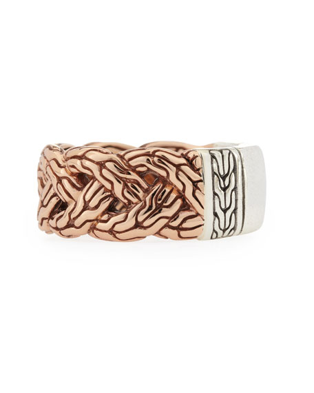 Men's Bronze-Braid Band Ring