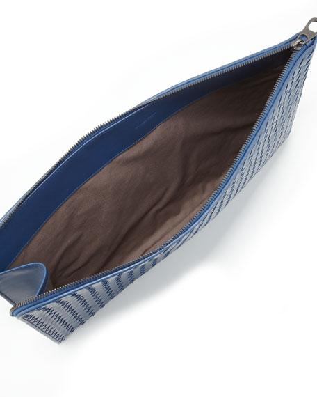 Large Woven Portfolio, Blue