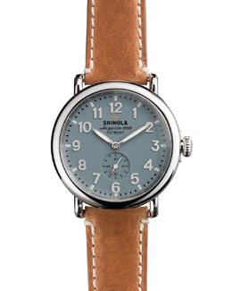 Shinola 41mm Runwell Men's Watch, Light Blue