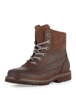 Brunello Cucinelli Waxed Leather Mountain Boot