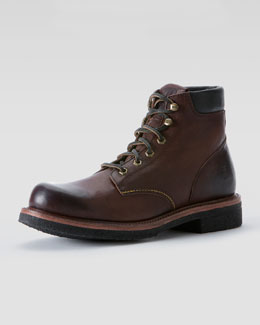 Dakota Crepe Boot, Dark Brown