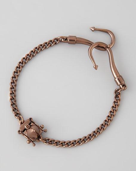 Double Hook Bracelet, Chocolate