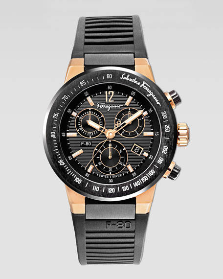 Salvatore Ferragamo F-80 Titanium Chronograph Watch