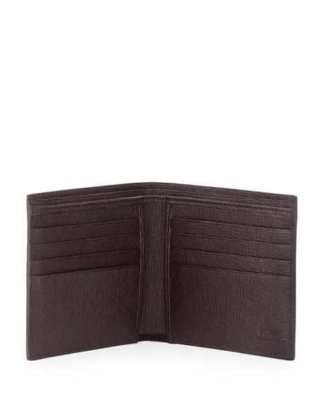 Men's Ombre Zucca Bi-Fold Wallet, Yellow/Tobacco