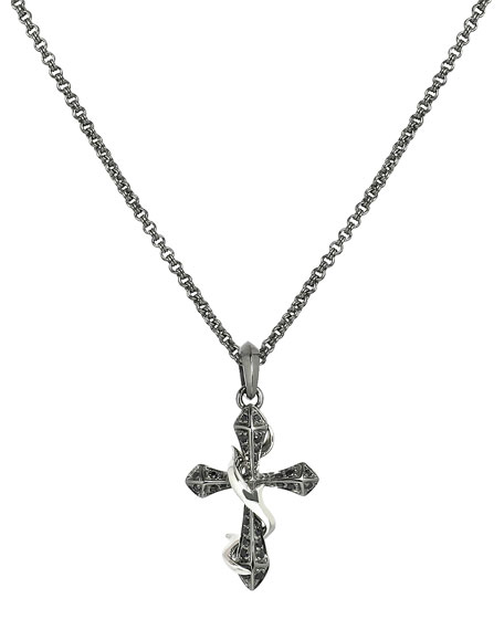 THORN CROSS NECKLACE