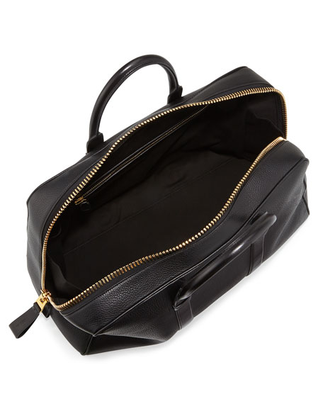 Wide-Zip Trapeze Duffel Bag, Black