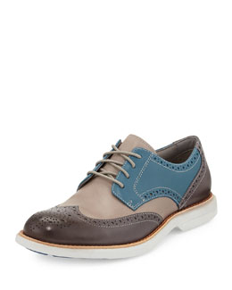 Sperry Top-Sider Gold Cup Bellingham Wing-Tip, Blue/Gray