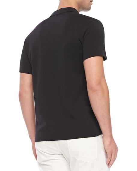 Boyd.Census Short-Sleeve Polo, Black