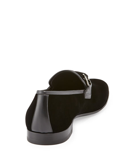 Party Velvet Gancini Loafer, Black