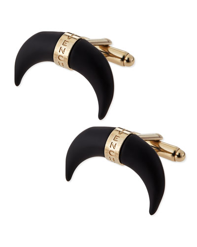 Givenchy Black Horn Cuff Links