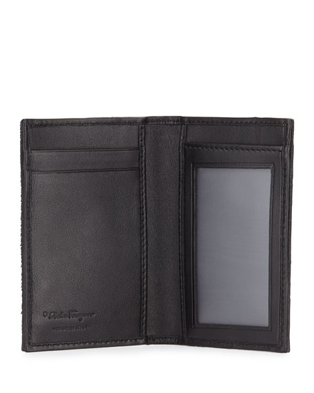 Luxor Pony Calf Hair Wallet, Black