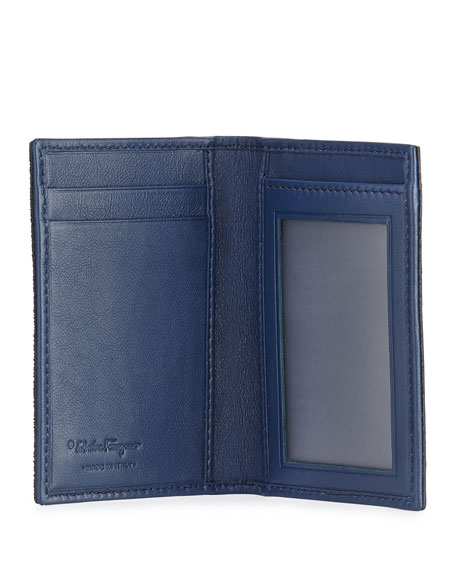 Luxor  Calf Hair Card Case, Royal Blue