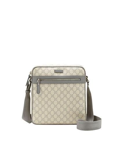 Gucci Grey GG Supreme Flight Bag