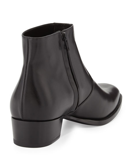Saint Laurent Zip Détail Bottines - Noir v4SAEe
