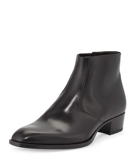 Wyatt Men's Leather Ankle Boot, Black
