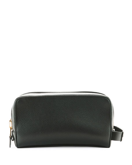 Tom Ford Pebbled Leather Toiletry Case, Black